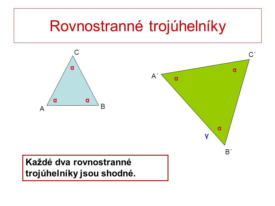 Rovnostranné trojúhelníky