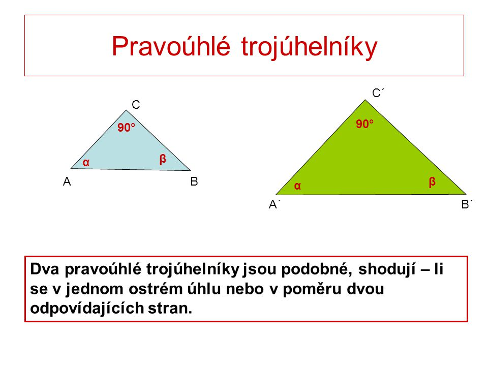 Pravoúhlé trojúhelníky