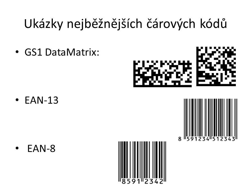 Ukázky nejběžnějších čárových kódů