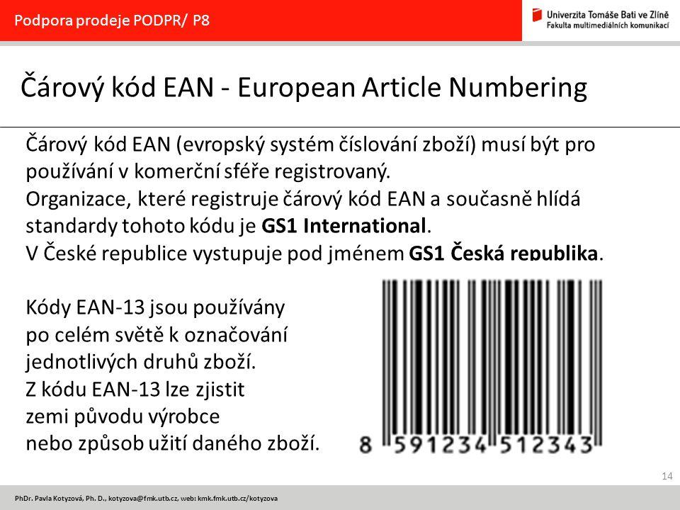 Čárový kód EAN - European Article Numbering