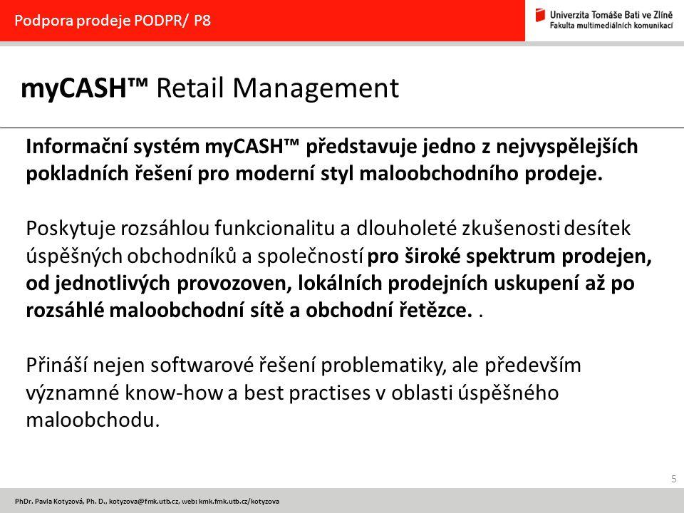 myCASH™ Retail Management