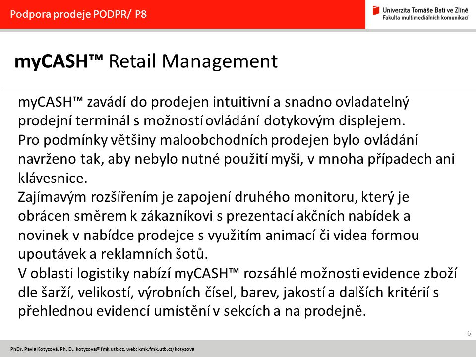 myCASH™ Retail Management