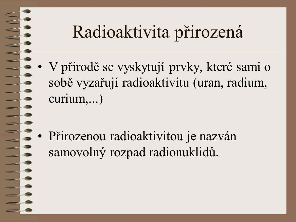 Radioaktivita přirozená