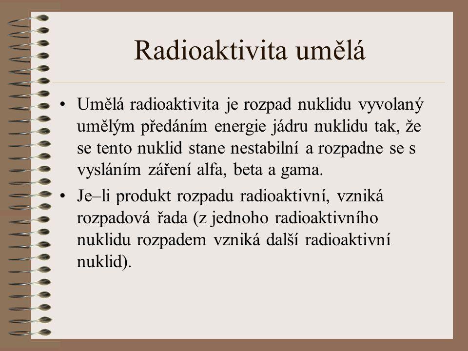 Radioaktivita umělá