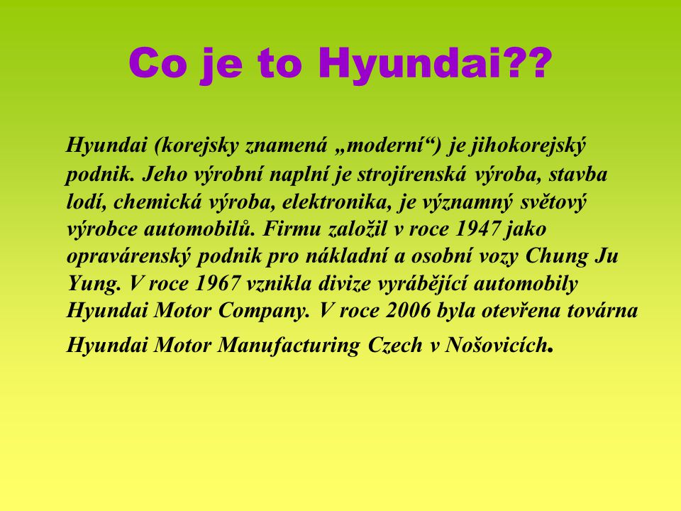 Co je to Hyundai
