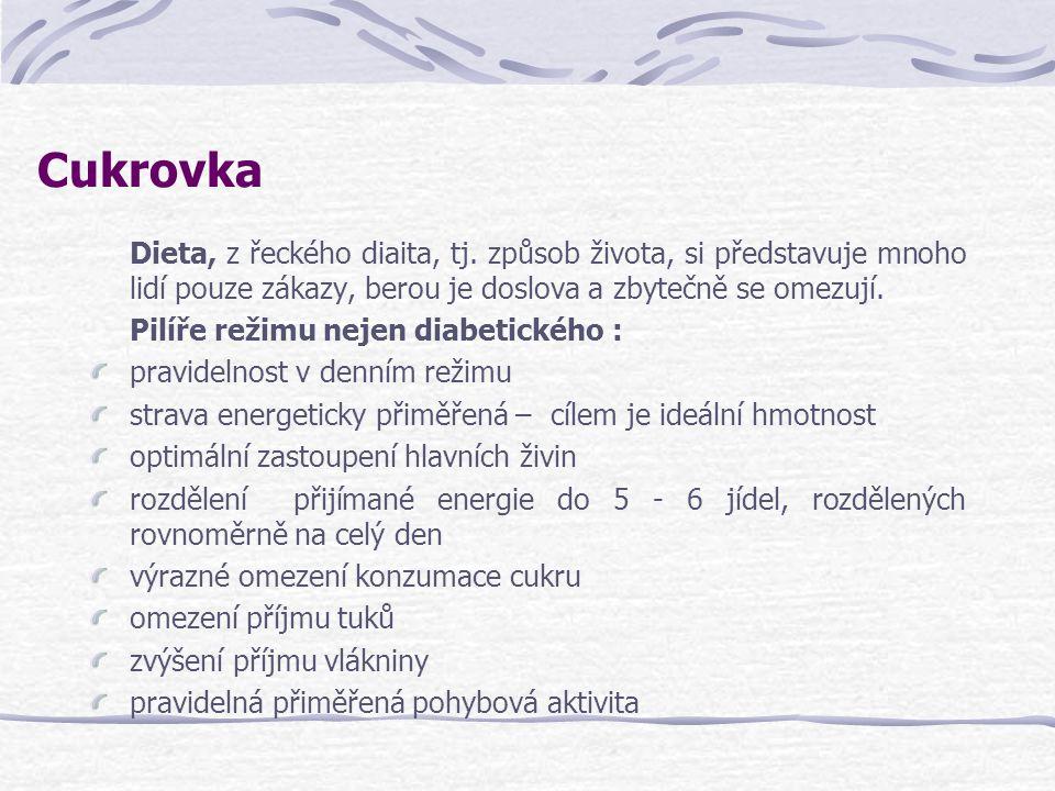 Cukrovka Dieta, z řeckého diaita, tj. způsob života, si představuje mnoho lidí pouze zákazy, berou je doslova a zbytečně se omezují.