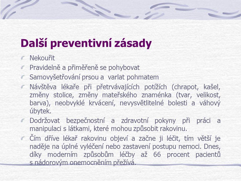 Další preventivní zásady