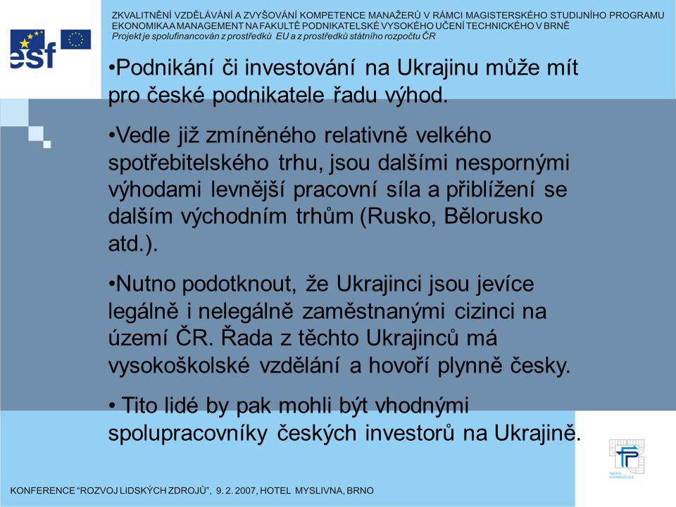 Podnikání či investování na Ukrajinu může mít pro české podnikatele řadu výhod.