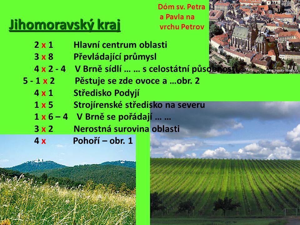 Jihomoravský kraj 2 x 1 Hlavní centrum oblasti