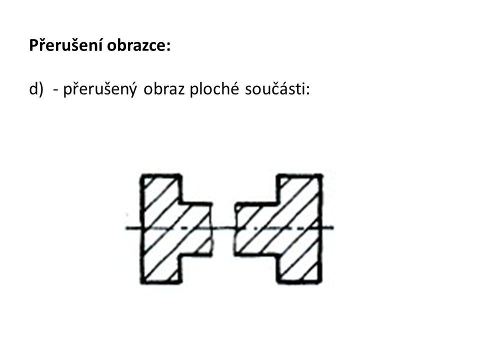 Přerušení obrazce: d) - přerušený obraz ploché součásti: