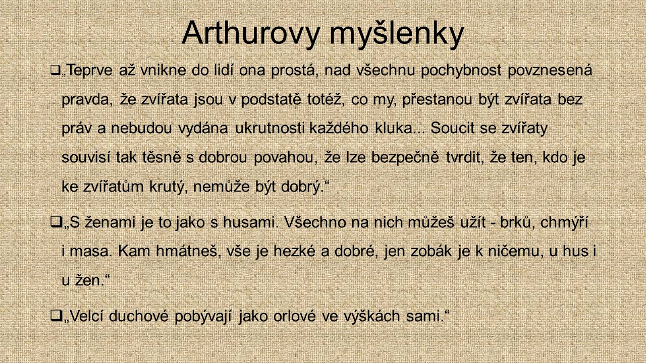 Arthurovy myšlenky