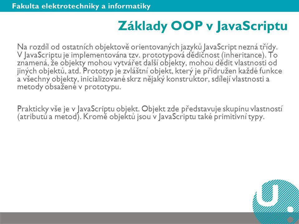 Základy OOP v JavaScriptu
