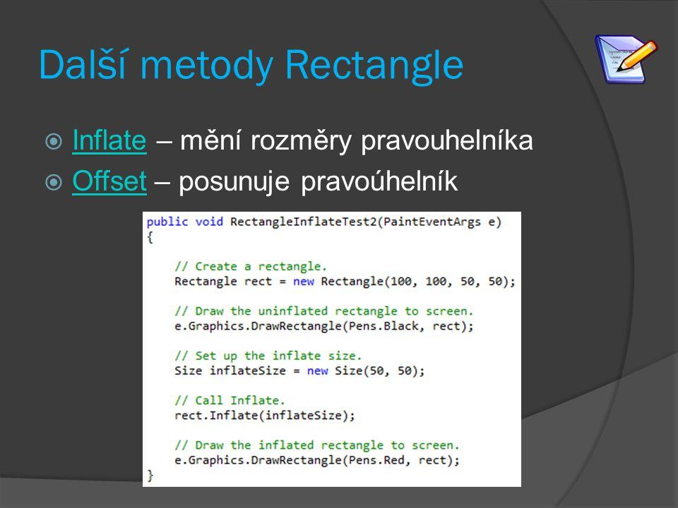 Další metody Rectangle