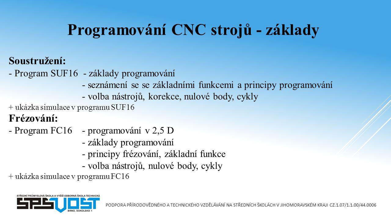 Programování CNC strojů - základy