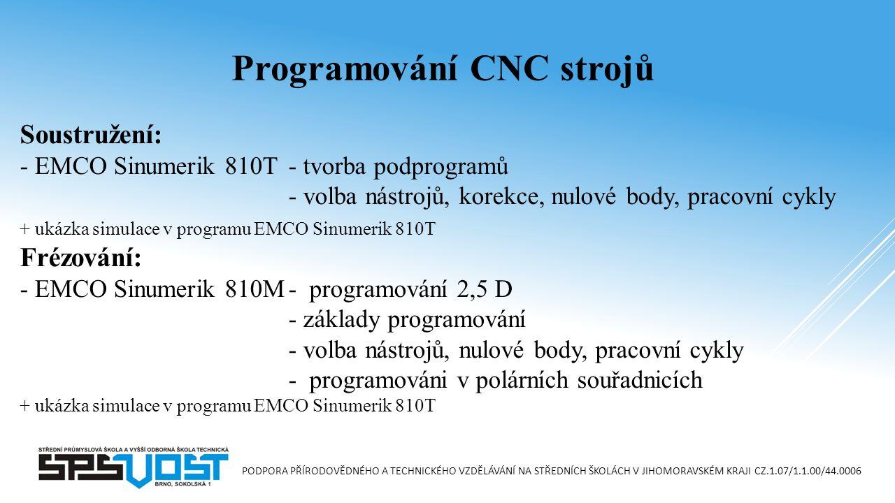 Programování CNC strojů