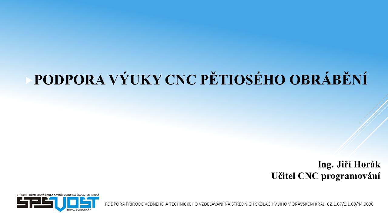 Ing. Jiří Horák Učitel CNC programování
