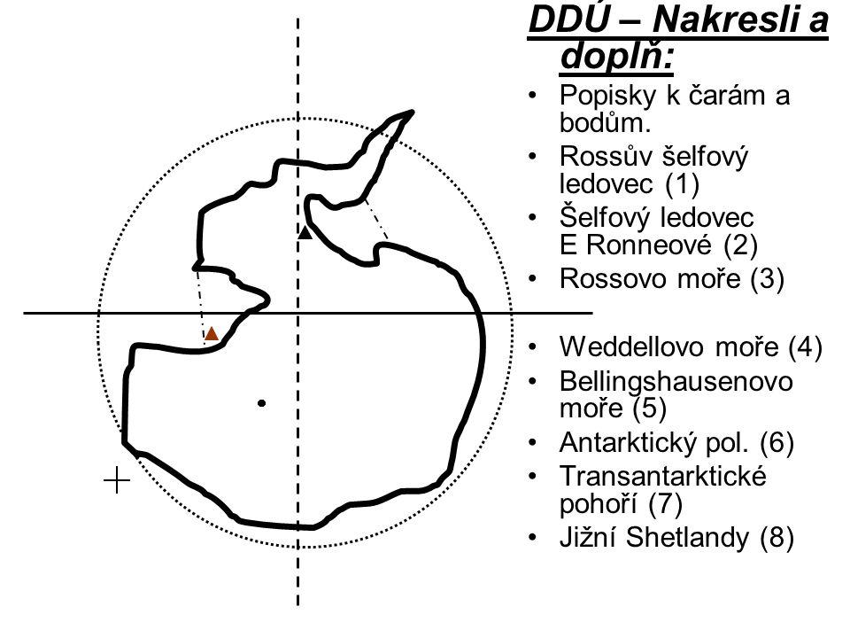 DDÚ – Nakresli a doplň: Popisky k čarám a bodům.