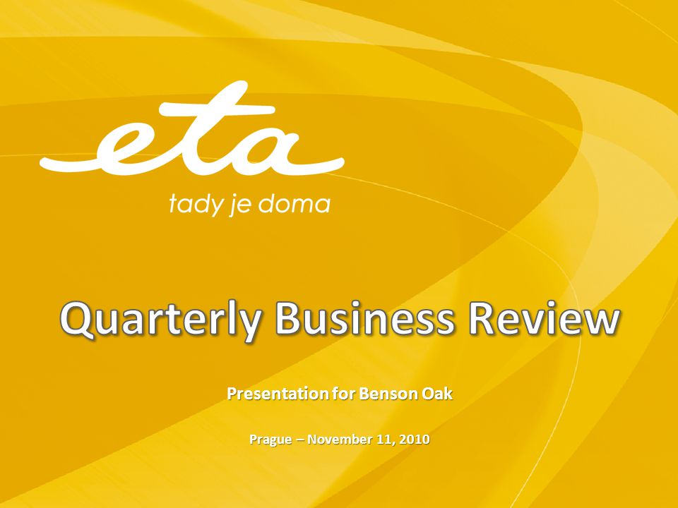 Quarterly Business Review
