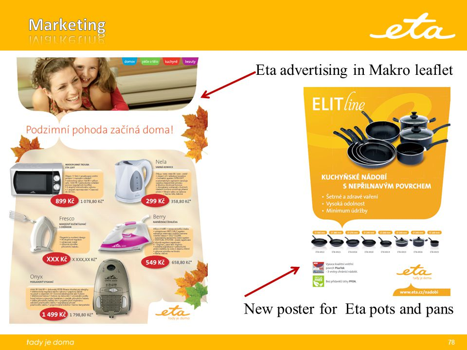 Marketing Eta advertising in Makro leaflet