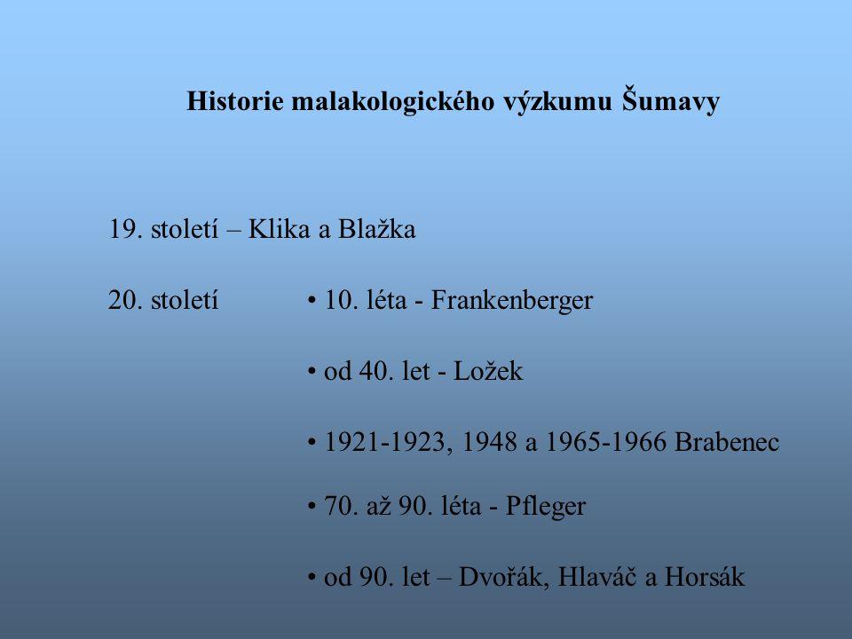 Historie malakologického výzkumu Šumavy