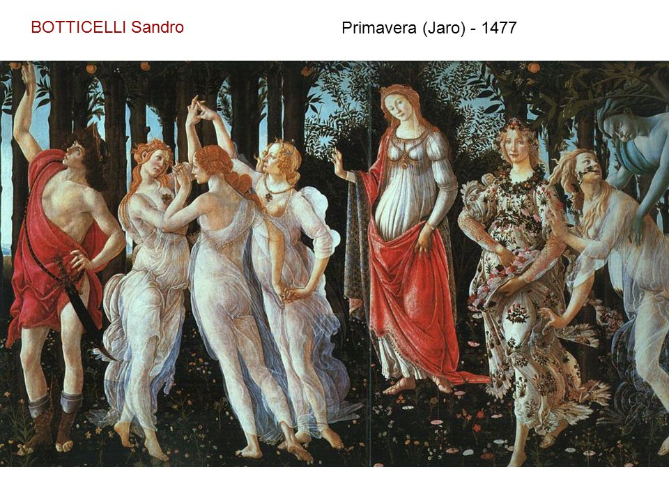 BOTTICELLI Sandro Primavera (Jaro) - 1477