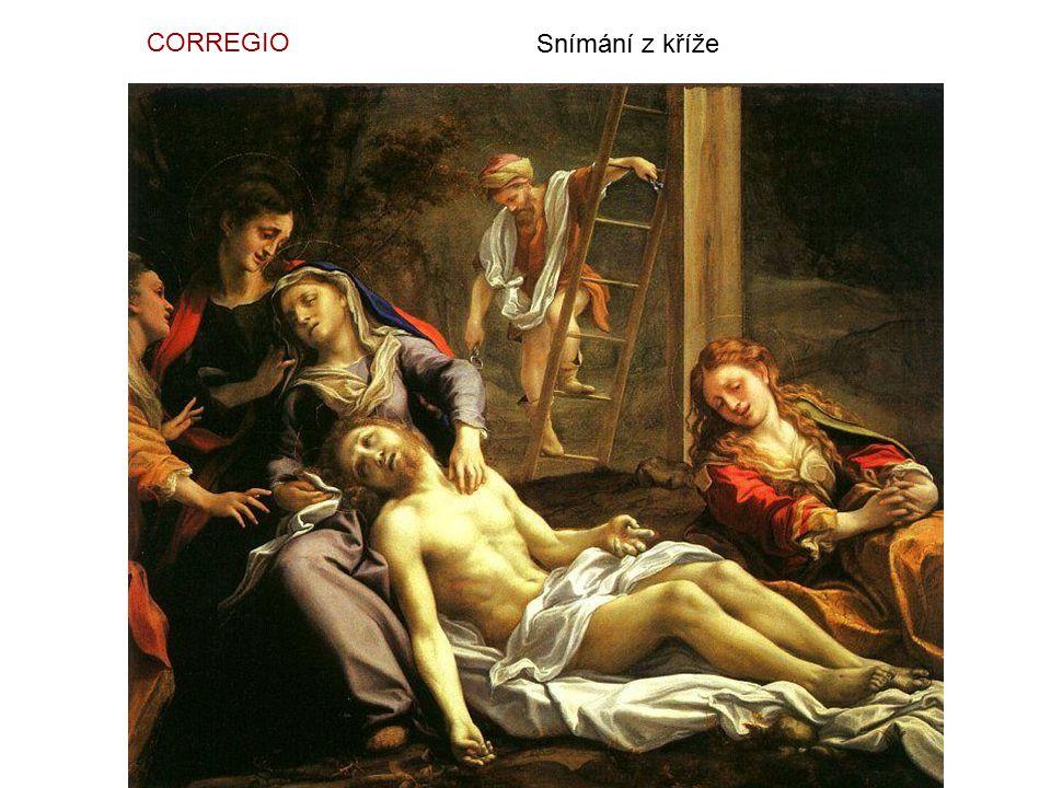 CORREGIO Snímání z kříže