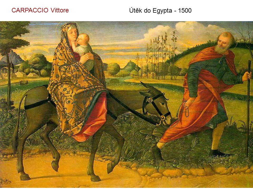 CARPACCIO Vittore Útěk do Egypta - 1500