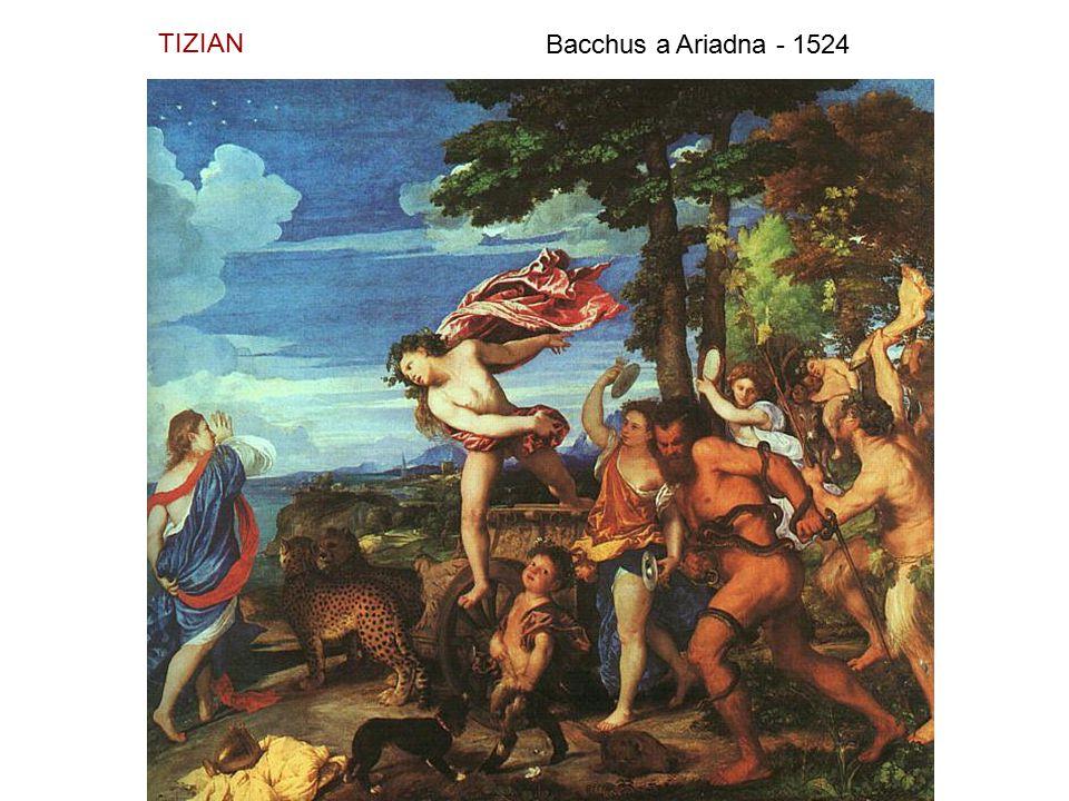 TIZIAN Bacchus a Ariadna - 1524