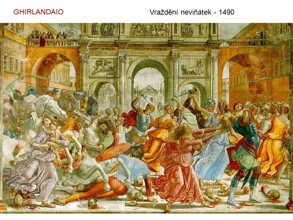 GHIRLANDAIO Vraždění neviňátek - 1490