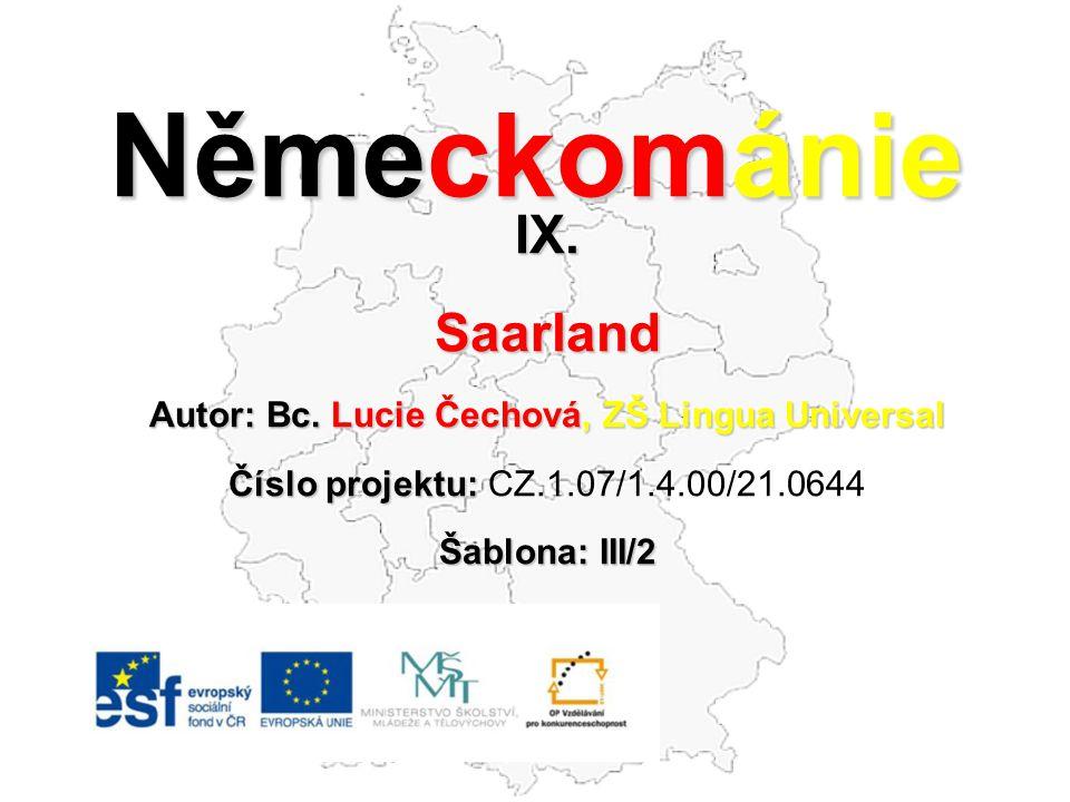 Autor: Bc. Lucie Čechová, ZŠ Lingua Universal