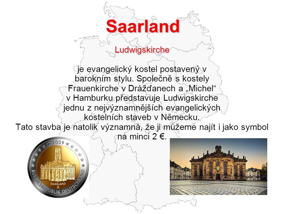 Saarland Ludwigskirche je evangelický kostel postavený v