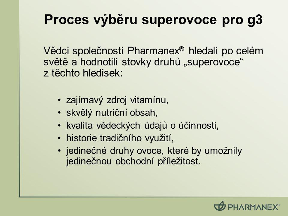 Proces výběru superovoce pro g3