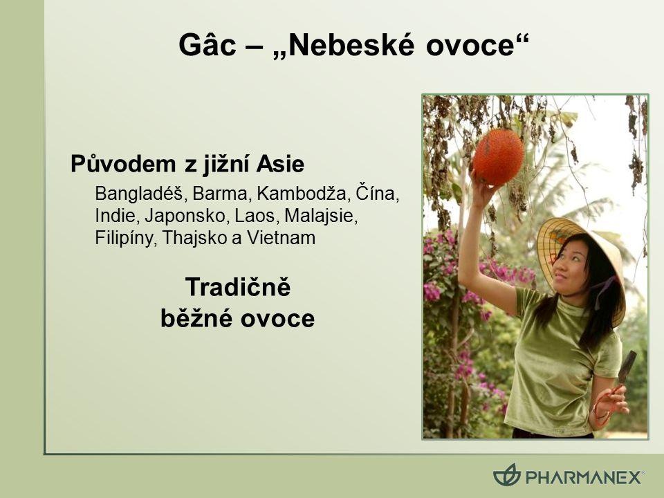 """Gâc – """"Nebeské ovoce Tradičně běžné ovoce Původem z jižní Asie"""