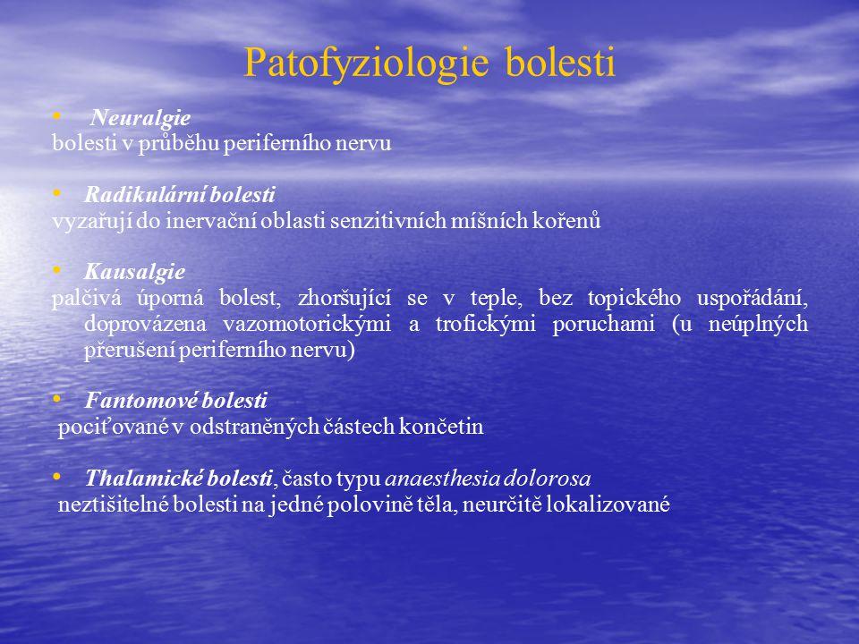 Patofyziologie bolesti