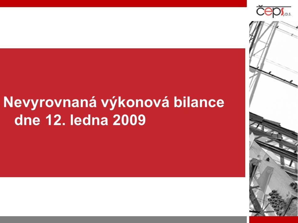 Nevyrovnaná výkonová bilance dne 12. ledna 2009