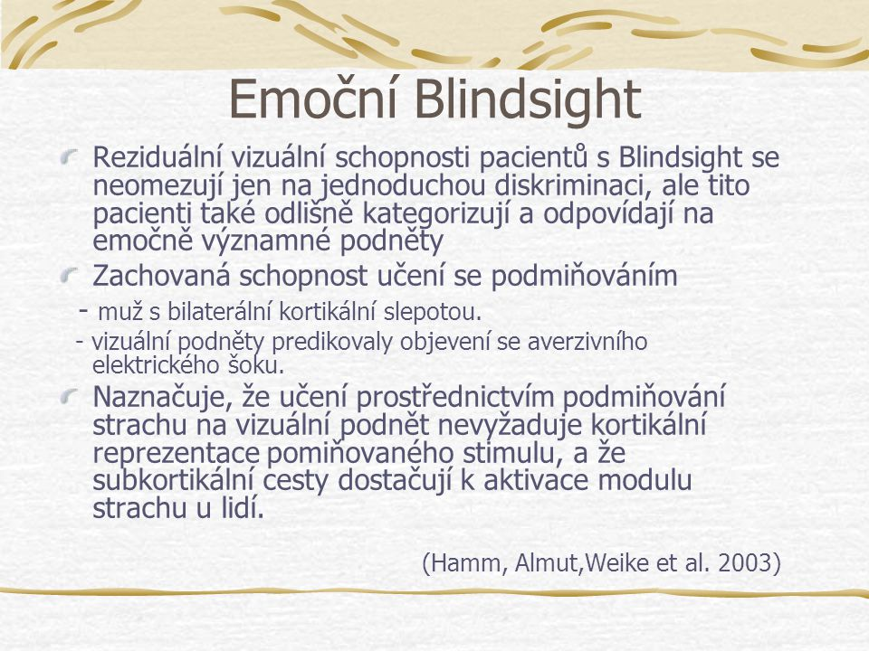 Emoční Blindsight