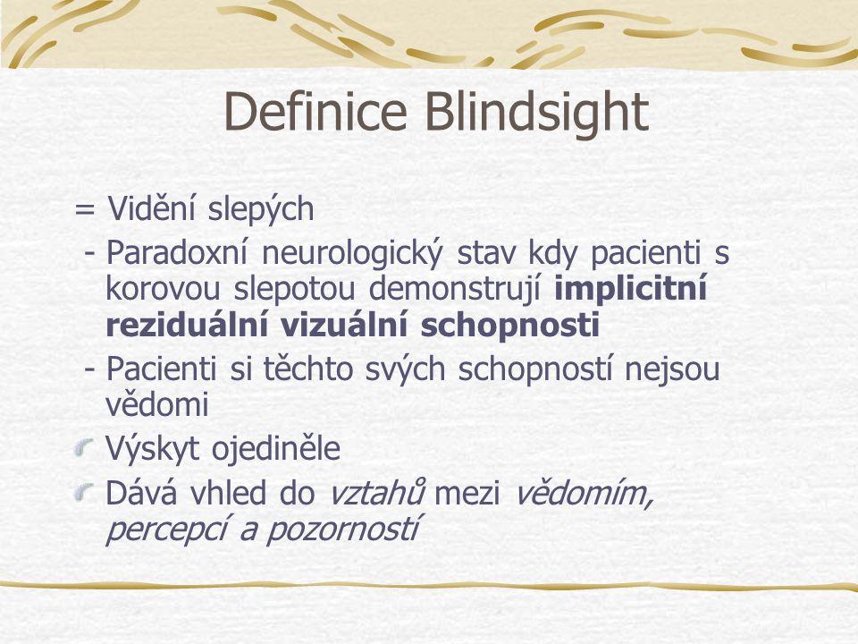 Definice Blindsight = Vidění slepých