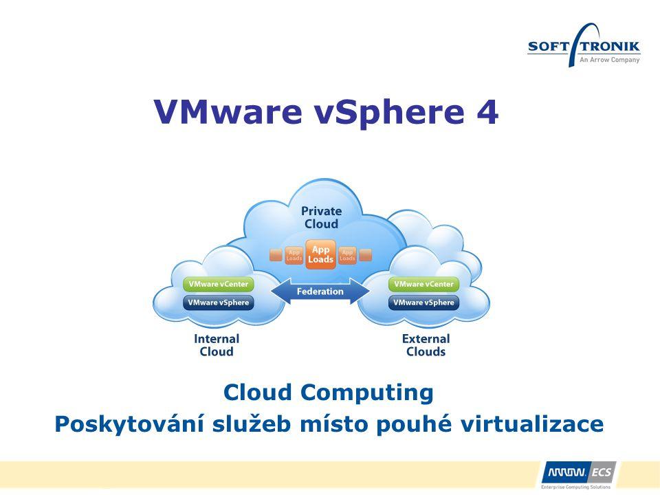 Cloud Computing Poskytování služeb místo pouhé virtualizace