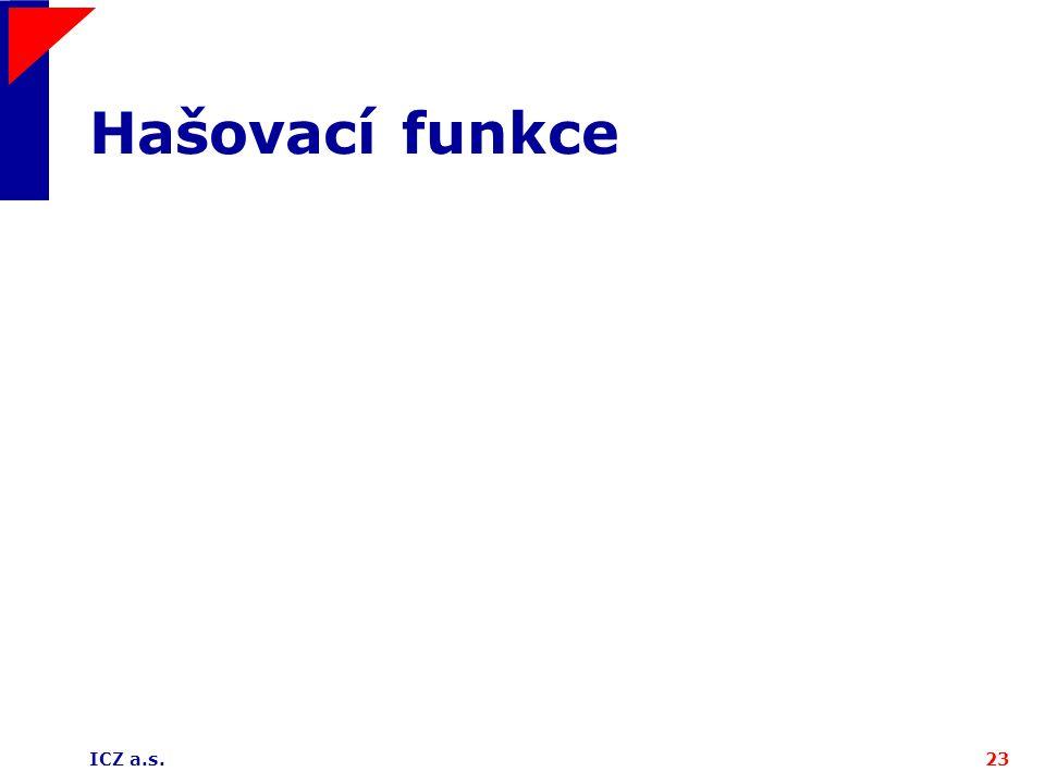 Hašovací funkce ICZ a.s.