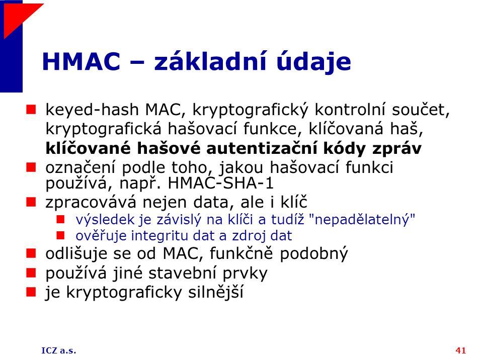 HMAC – základní údaje