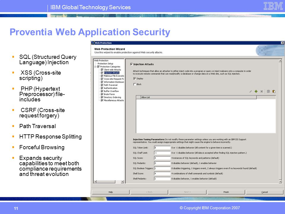 Proventia Web Application Security