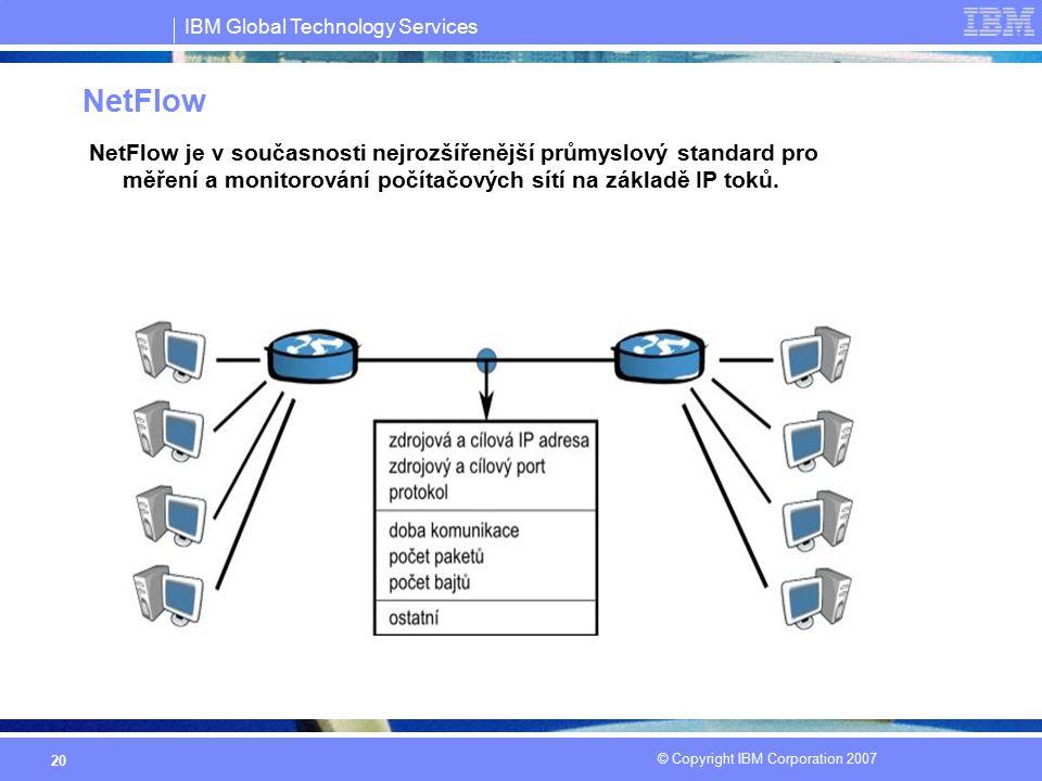 NetFlow NetFlow je v současnosti nejrozšířenější průmyslový standard pro měření a monitorování počítačových sítí na základě IP toků.