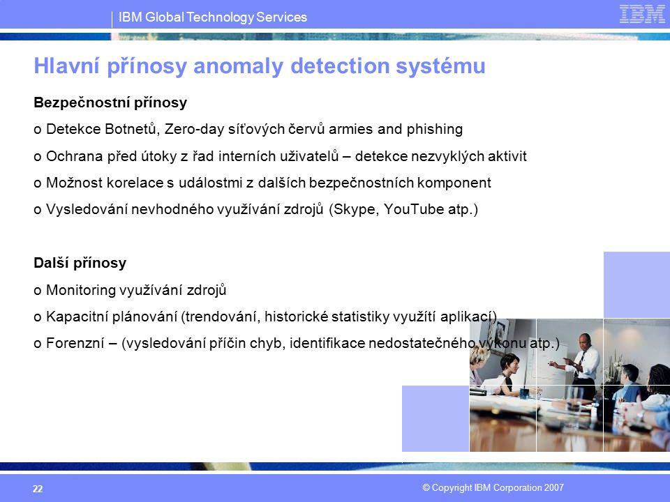Hlavní přínosy anomaly detection systému