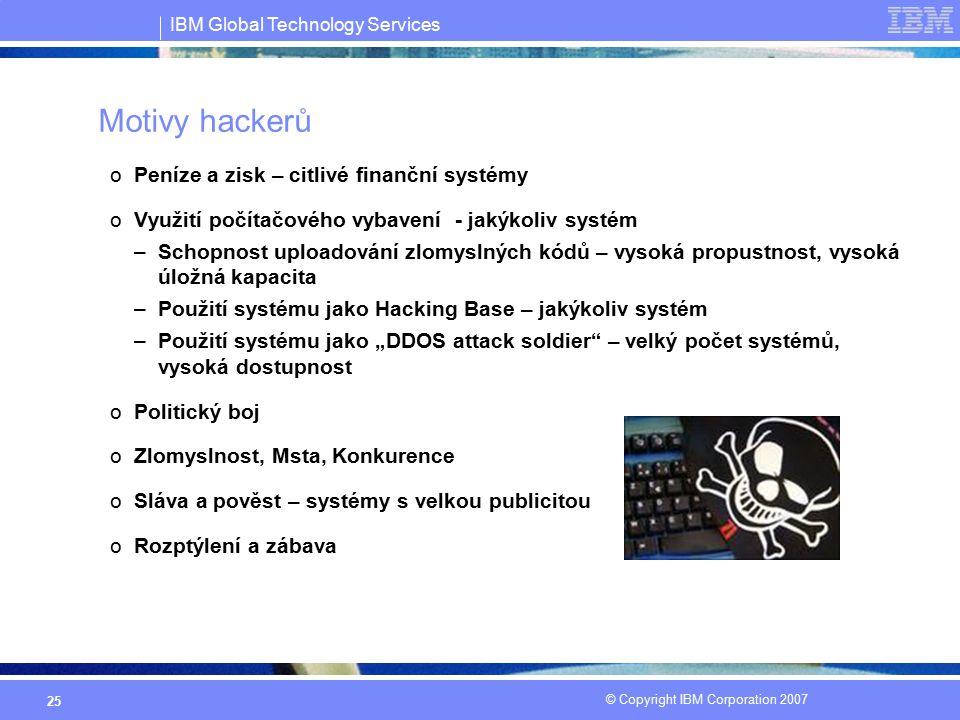 Motivy hackerů Peníze a zisk – citlivé finanční systémy