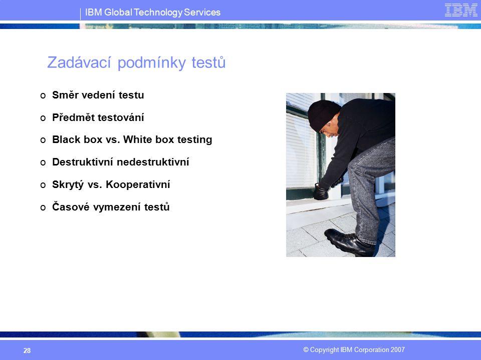 Zadávací podmínky testů
