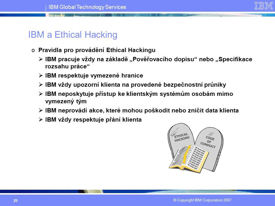 IBM a Ethical Hacking Pravidla pro provádění Ethical Hackingu