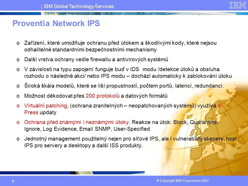 Proventia Network IPS Zařízení, které umožňuje ochranu před útokem a škodlivými kody, které nejsou odhalitelné standardními bezpečnostními mechanismy.