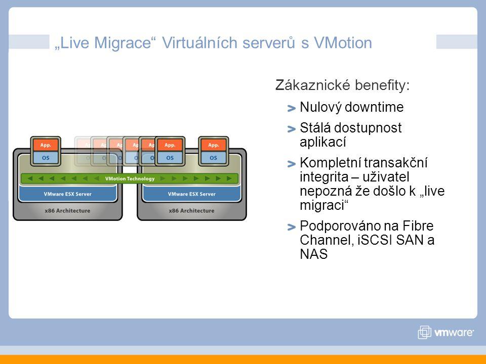 """""""Live Migrace Virtuálních serverů s VMotion"""