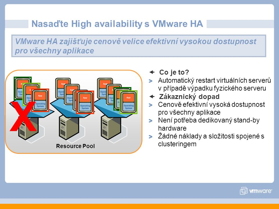 Nasaďte High availability s VMware HA