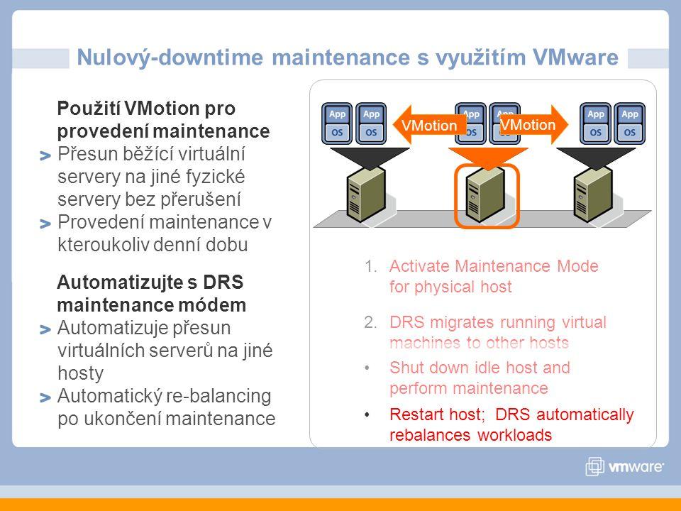 Nulový-downtime maintenance s využitím VMware